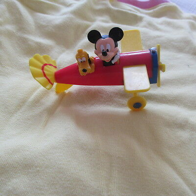 DECOPAC DISNEY MICKEY MOUSE PLUTO AIRPLANE Toy Action Vehicle Figure cake topper