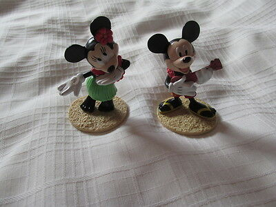 MICKEY MINNIE MOUSE HULA DISNEY APPLAUSE Cake TOPPER DECOPAC set 2 Figures