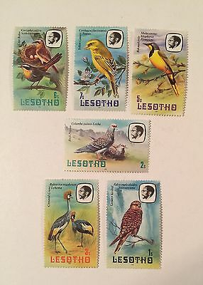 Postage stamps MLH lot of 5 Lesotho bird