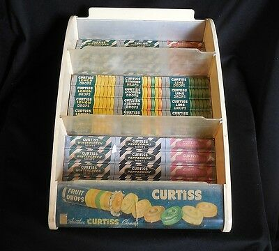 Vintage Curtiss Candy Co. Counter Store Display Sign