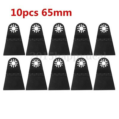 UK 10Pcs 65mm Carbon Steel Multi Tools Oscillating Saw Blade For Fein RIDGID