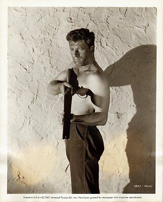 BURT LANCASTER SHIRTLESS vintage '47 ORIGINAL BEEFCAKE FILM NOIR PORTRAIT Photo