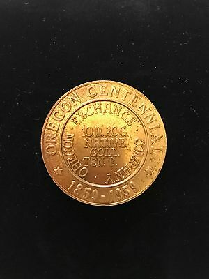 Oregon Centennial 1859-1959 Coin