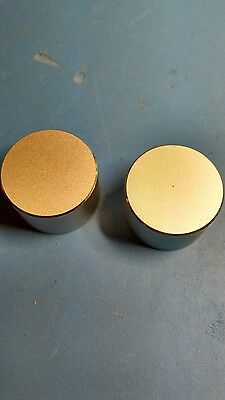 Aluminium knobs, new,  (2 Pieces)