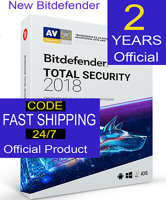 Bitdefender Total Security 2017 5PCs  2-Years  Genuine Fast shipping CODE OFFER