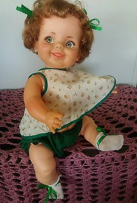Vintage Ideal Doll Baby Giggles 1960,s 16 Inch