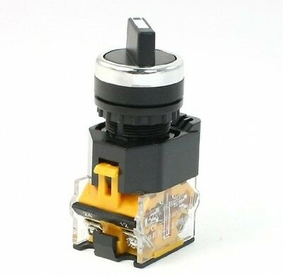 AC 380V 10A 1NO 1NC DPST 2 Positions Rotary Selector Latching Twist Switch