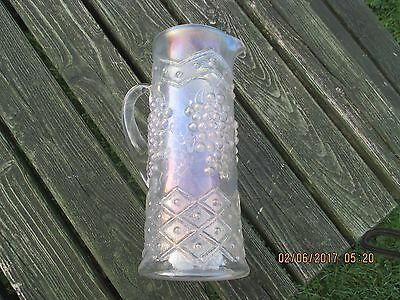 carnival glass Grape and Lattice water pitcher