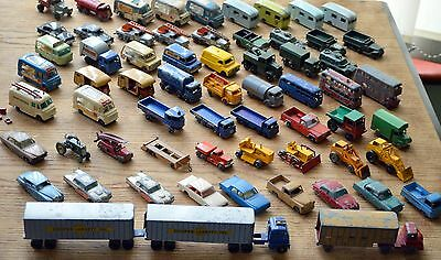 73 Vintage Collection Moko Matchbox Lesney cars,trucks,busses and other vehicles