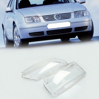 99-05 VW JETTA BORA MK4 REPLACEMENT PLASTIC HEADLIGHT LENSES - PAIR (Fits: Bora)