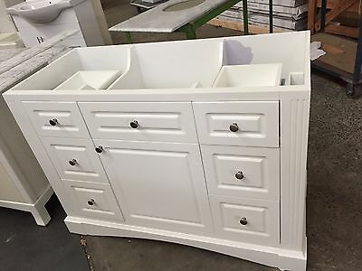 Factory Seconds Provincial Bathroom Vanity Frances 1200 White