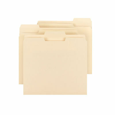Smead 1/3 Cut Assorted Positions File Folders Letter Manila 150 Count