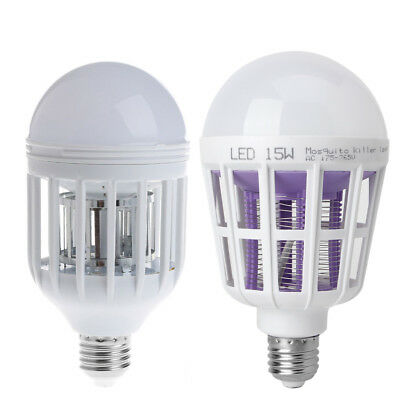 E27 LED Insectes Zapper Anti Moustique Lampe ampoule Flying Insectes Moths Tueur