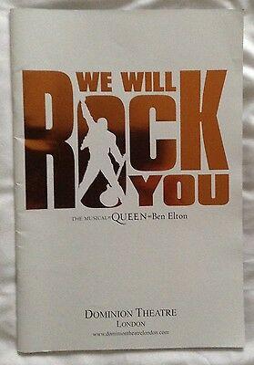 We Will Rock You the Musical. By QUEEN and Ben Elton. Programme.