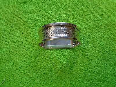 Solid Silver Napkin Ring B&co