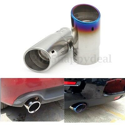 Universal Car Stainless Steel Chrome Round  Exhaust Tail Muffler Tip Pipe Trim