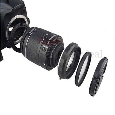 Reverse Ring & Rear Protect Ring & UV Filter & Lens Cap For Canon EOS Macro Lens