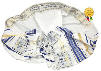 "Messianic prayer shawls ""Tallit"" Set of 2 - Dark Blue & Purple"