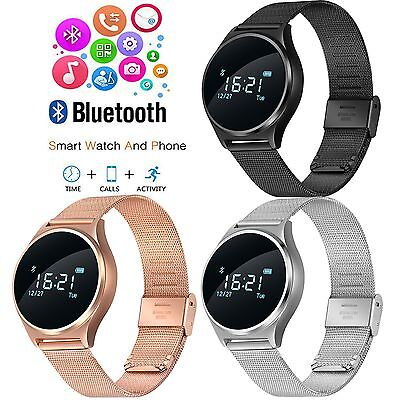 Bluetooth Smart Watch Heart Rate Monitor Blood Pressure/Oxygen Oximeter Tracker