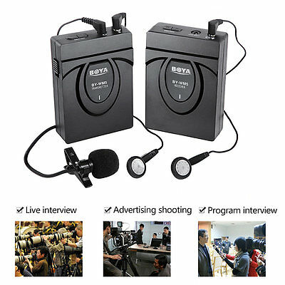 BOYA BY-WM5 Pro Wireless Lapel Photography Interview Recording Microphone S4W