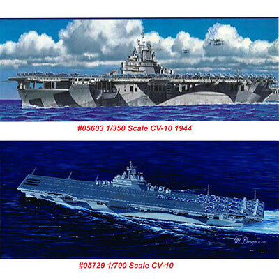 Trumpeter 05729 05603 1/700 1/350 US Aircraft Carrier Yorktown CV-10/1944 Model