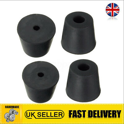 UK 4Pcs Rubber Chair Table Leg Cap Feet Pads Cover Protector Decor 20mm x 17mm