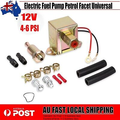 Electric Fuel Pump 12 volt Solid State 4 to 6 PSI Petrol Facet Universal BBY AU