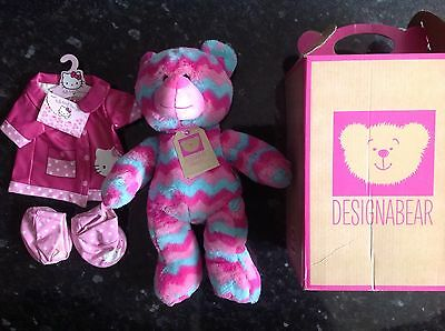 New Chad Valley Teddy Design A Bear / Designabear Zig Zag Design & Rain Mac Set.