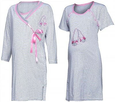 Happy Mama. Women's Maternity Hospital Nightie / Robe for Labour & Birth. 894p