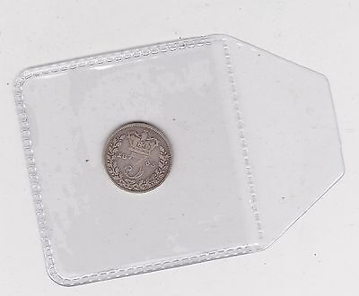 1843 Silver Threepence In A Used Fine Condition