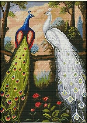 The Forest Peacock. 14CT counted cross stitch kit. Craft brand new.