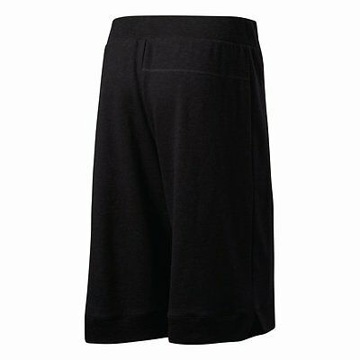 Adidas French Terry Mens Basketball Sport Shorts with Zip Pockets Black