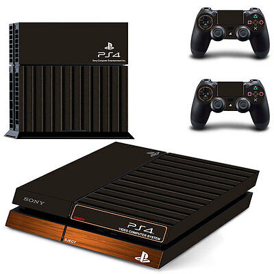 Sony PS4 Playstation 4 Console Skin Sticker New Atari Look + 2 Controllers