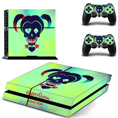 Sony PS4 Playstation 4 Console Skin Sticker New Harley Quinn T2 + 2 Controllers