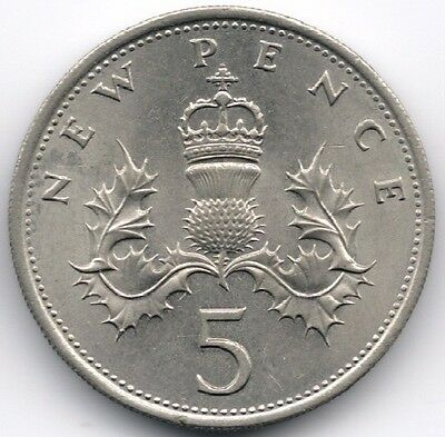 1968 - 1989 Old Five Pence (5P) Select Year From Drop Down Buy 2 Get 1 Free #tt