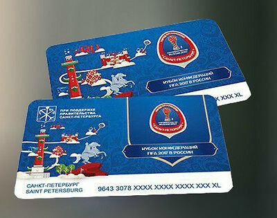 2 tickets subway bus tram The FIFA Confederations Cup 2017 St-Petersburg Russia
