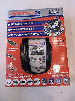New Optimate 3 Motorcycle Battery Charger