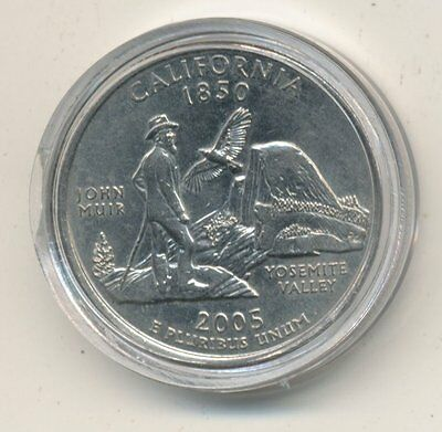 2005 D USA Quarter Coin Enclosed in Plastic - CALIFORNIA  #Q24