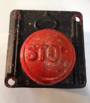 Emergency Stop Button. Vintage Cast Iron Door Bell Push.