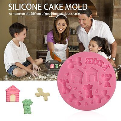 3D Puppy-shaped Silicone Fondant Mould Baking Decorating Tool Cake Mould SAS