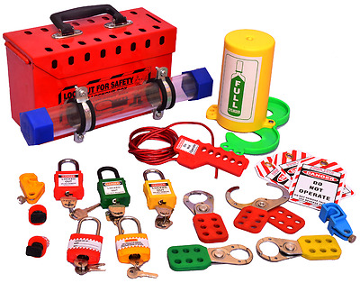 Industrial Safety Lockout/Tagout kit with Station