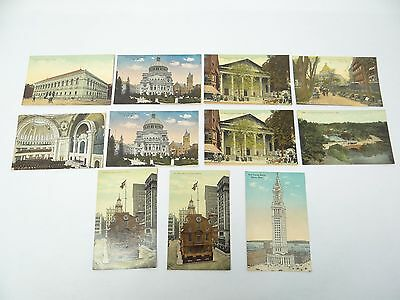 Mixed Vintage Lot Boston Mass Christian Science Church Public Library Postcards