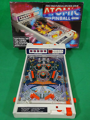 Vintage TOMY Atomic Flipper Pinball Machine Retro Toy Boxed