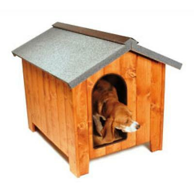 Dog Wooden Shelter / Kennel / House Outdoor Luxury Vintage 80x60cm