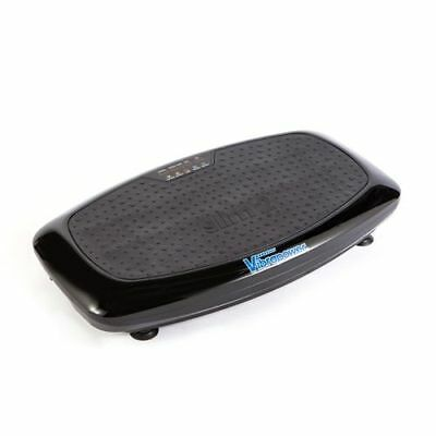 Vibrapower Slim 2 Exercise Machine Vibrating plate with Resistance Bands Black