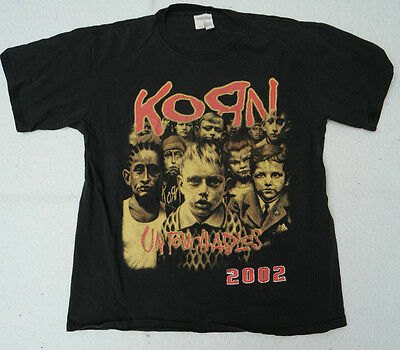 2002 Korn Untouchables Concert Tour w No Name T-Shirt MED DEADSY PUDDLE OF MUDD