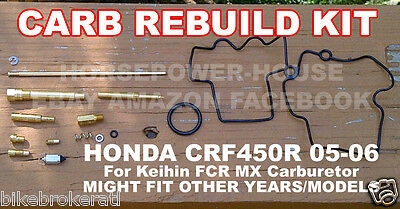 CARBURETOR CARB REBUILD KIT  MAIN JET GASKET for 41mm KEIHIN FLAT SIDE FCR MX