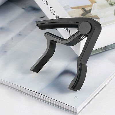 Electric & Acoustic Tune Quick Change Trigger 6 String Guitar Capo Key Clamp SAS