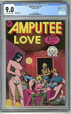 Amputee Love #1 1975 1St Print Cgc 9.0 Vf/nm Ow/w Pages Underground Comix Boates