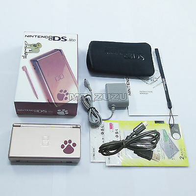 Brand New Paw Metallic Rose Nintendo DS Lite HandHeld Console System with gifts